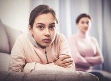 Offense de prise de mère et de fille Photo libre de droits