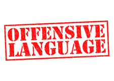 OFFENSIVE LANGUAGE Stock Photos
