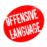 Offensive Language rubber stamp Royalty Free Stock Images