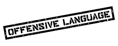 Offensive Language rubber stamp Stock Image