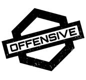 Offensive rubber stamp. Grunge design with dust scratches. Effects can be easily removed for a clean, crisp look. Color is easily changed Royalty Free Stock Image