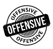 Offensive rubber stamp. Grunge design with dust scratches. Effects can be easily removed for a clean, crisp look. Color is easily changed Royalty Free Stock Images