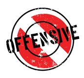 Offensive rubber stamp. Grunge design with dust scratches. Effects can be easily removed for a clean, crisp look. Color is easily changed Stock Photo