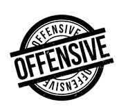 Offensive rubber stamp. Grunge design with dust scratches. Effects can be easily removed for a clean, crisp look. Color is easily changed Stock Photography