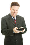 Offensive Text Message - Businessman Stock Photo
