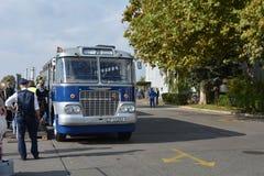 Offentlig öppen dag på det 40-åriga bussgaraget Cinkota XXIII Arkivbild