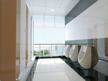 offentlig badrum 3d Royaltyfri Bild