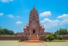 Offentlig & berömd pagod i Wat Pha Kao Noi Arkivbilder