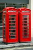 offentlig brittisk telefon Royaltyfri Bild