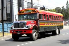 offentlig bussguatemalan Fotografering för Bildbyråer