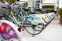 offentlig cykel Arkivbilder