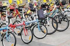 Offentlig cykelhyra royaltyfri foto
