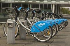Offentlig cykelhyra i Luxembourg Arkivbild