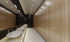 offentlig en wc Arkivbilder