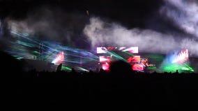 Offentlig festival- och ljusshow Arkivfoton