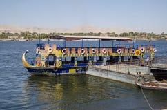 Offentlig färja, flodNilen, Luxor Royaltyfri Foto