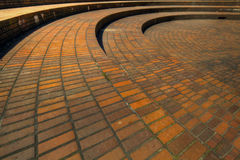 offentlig fyrkant för brickwork Royaltyfri Fotografi