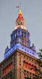 Offentlig fyrkant i stadens centrum Cleveland Ohio för slutligt torn Royaltyfri Foto