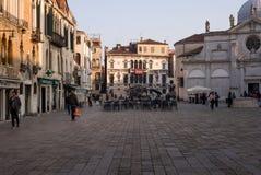Offentlig fyrkant i Venedig, Italien Fotografering för Bildbyråer