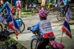 Offentlig händelse för cykel, Lopburi, Thailand royaltyfria foton