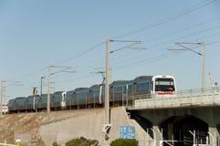 Offentlig järnväg - Fremantle - Australien royaltyfria bilder