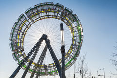 Offentlig konst för pariserhjul (detaljer) Royaltyfri Foto