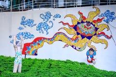 Offentlig konst på storgatan på Fort Bonifacio på Augusti 6, 2017 i mig Arkivfoton