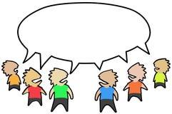Offentlig konversation vektor illustrationer