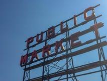 Offentlig marknad i Seattle Washington Fotografering för Bildbyråer