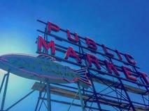Offentlig marknad i Seattle Washington Royaltyfria Bilder