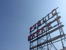 Offentlig marknad i Seattle Washington Arkivbild