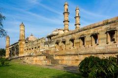 Offentlig moské på Champaner Royaltyfria Foton