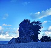 Offentlig områdesbildKolbano strand royaltyfria bilder