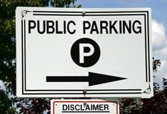 offentlig parkering Arkivfoto