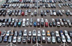 offentlig parkering royaltyfria bilder