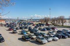 offentlig parkering royaltyfri fotografi