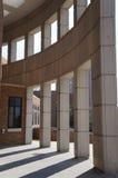 offentlig skärm för arcitecturegreenintervju Arkivfoto