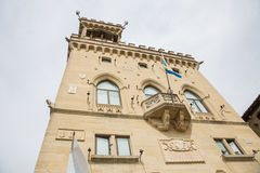 Offentlig slott i San Marino marino san marinorepublik san Royaltyfria Foton