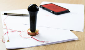 offentlig stämpel för notary Royaltyfri Fotografi