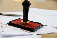 offentlig stamper för notary royaltyfri bild
