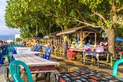 Offentlig strandpromenad i Mataram Royaltyfria Foton