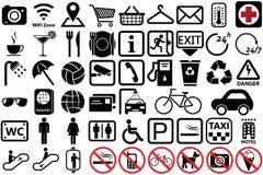 Offentlig symbolsuppsättning Royaltyfria Foton
