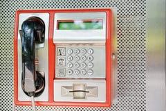 offentlig telefon Fotografering för Bildbyråer