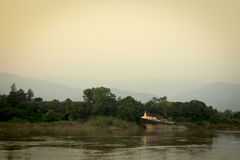 Offentlig tempel för pagod i Laos Royaltyfri Bild