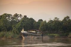 Offentlig tempel för pagod i Laos Arkivfoton