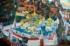 Offentlig thailändsk vägg- målning Royaltyfri Bild