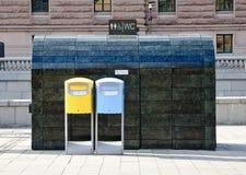 offentlig toalett för askpost Royaltyfria Bilder