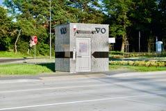 Offentlig toalett i Kielce Arkivbild