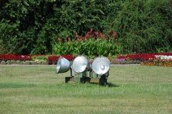 offentlig trädgårds- lighting för skärm Royaltyfria Bilder