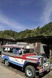 offentlig transport för banauejeepneyphilipines Royaltyfria Bilder